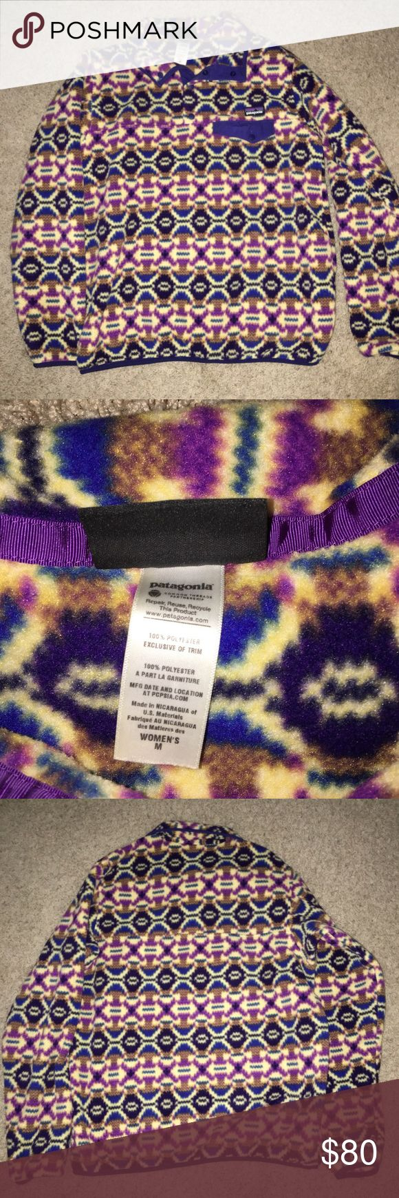 Worn once tribal print patterned pullover Cute Patagonia pullover, worn once, in perfect condition!! Patagonia Jackets & Coats