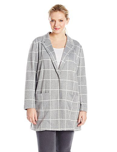 NYDJ Women's Plus-Size Window Pane Topper