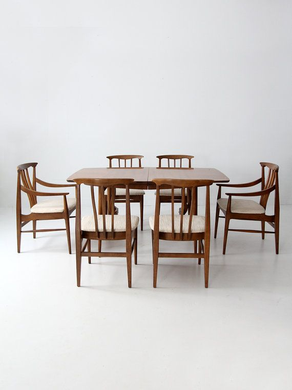 Mid Century Modern Dining Set Table And 6 Chairs By 86home On Etsy