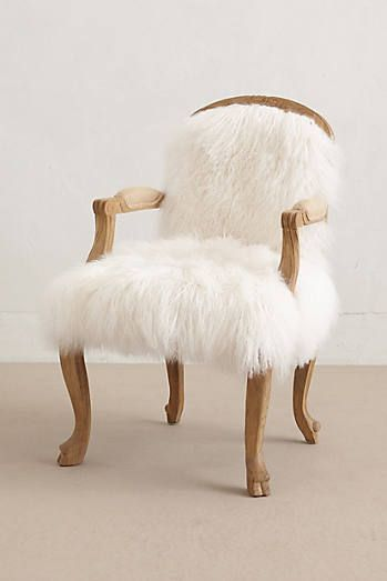 Luxe Fur Occasional Chair #anthrofave