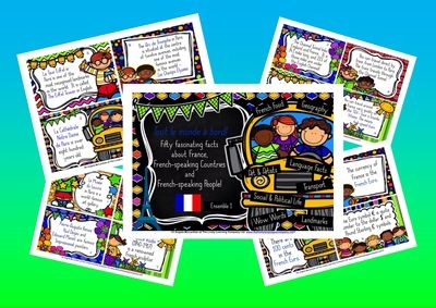 French Fun for Kids! 50 Fascinating Facts about La France and La Francophonie from Lively Languages with the Eager Beaver Classroom on TeachersNotebook.com -  (26 pages)  - Primary French - Fascinating Facts about French and Francophone Culture KS2 French