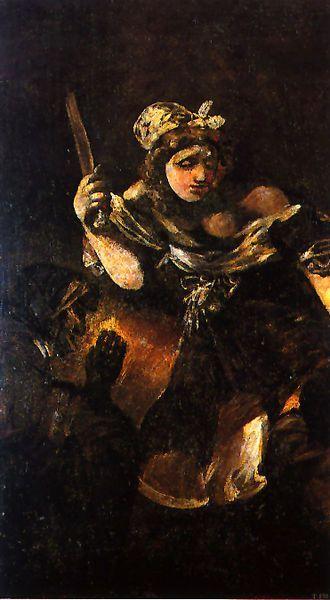 """Giuditta e Oloferne"" 1819-1823  Dimension: 143,5 x 81,4 cm  Black Paintings  Museo del Prado, Madrid"