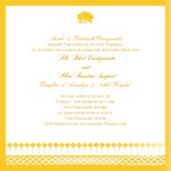 Wedding Invitations Blooming Vines Goldenrod Wedding
