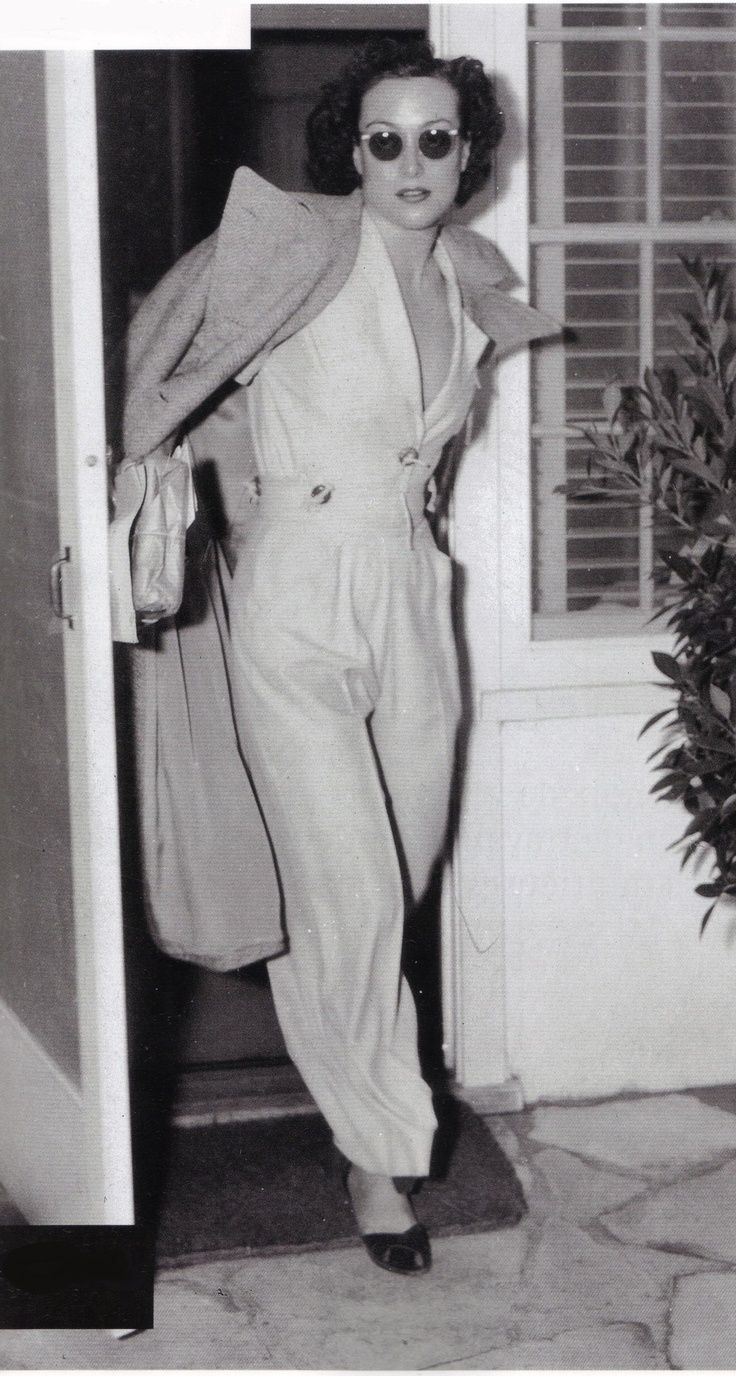 Crawford in pants.  The woman had style.