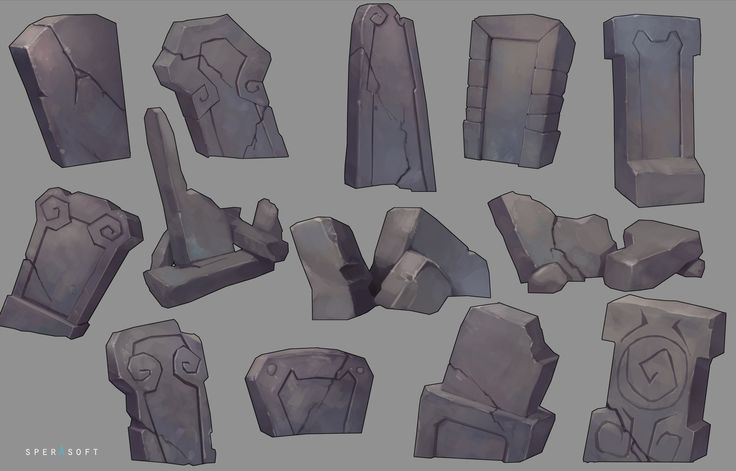 ArtStation - Cemetery stones, Sperasoft Studio