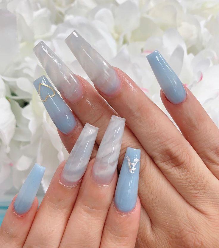 @demiemartinezz   Long acrylic nails, Long nails, Swag nails