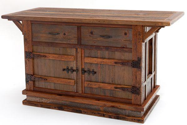 Woodland Creek - Rustic Redwood Bar Stools, Burl Wood Pub Tables, Custom Antique Barnwood Bar, Bistro Table