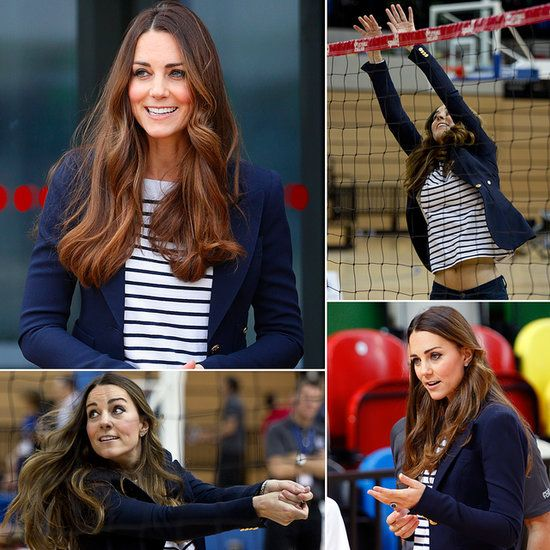 Kate Middleton Playing Volleyball | Pictures I announce volleyball games... can I announce one that she's playing in?