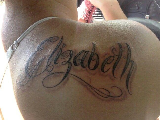 именем татуировка фото с елизавета