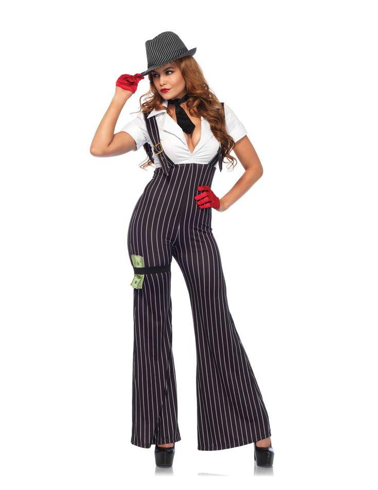 Gangster-Damenkostüm 20er Jahre schwarz-weiß , günstige Faschings Kostüme bei Karneval Megastore, der größte Karneval und Faschings Kostüm- und Partyartikel Online Shop Europas!