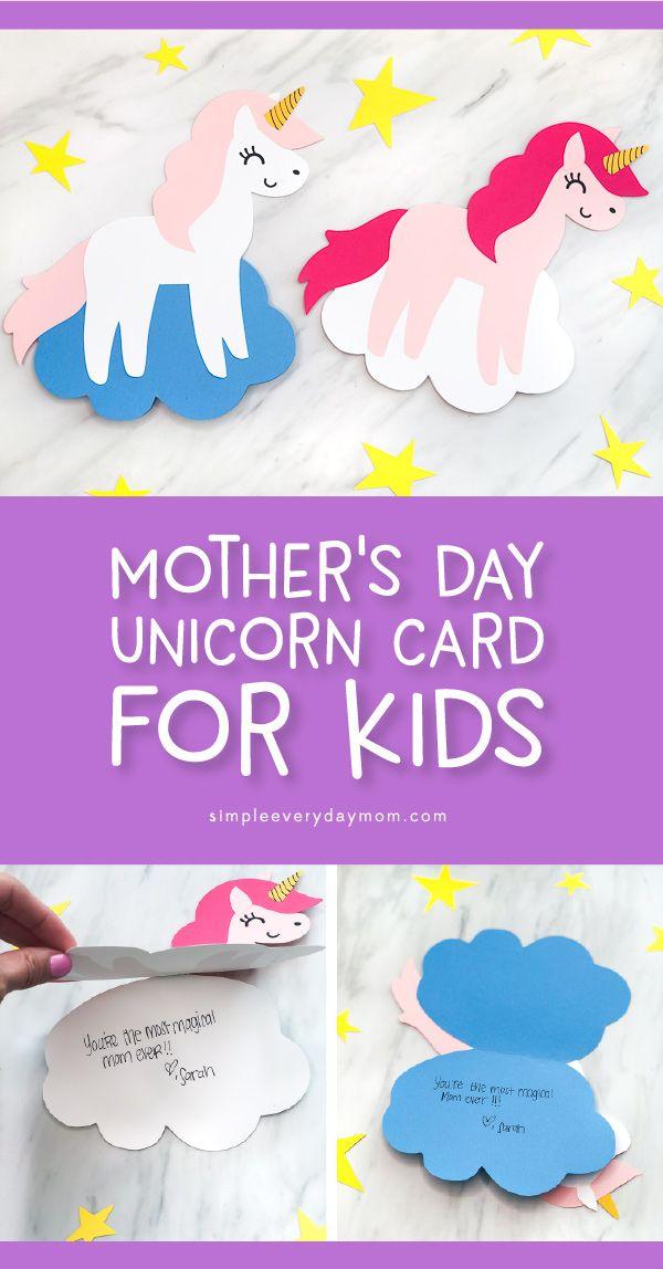 Diy Unicorn Card Craft For Kids Unicorn Card Card Craft Crafts For Kids