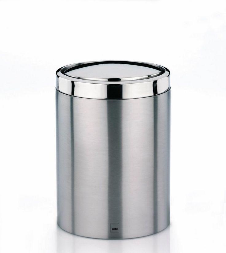 Schwingdeckel-Abfalleimer »Ari« für 39,99€. Schwingdeckeleimer Ari, Fassungsvermögen 7 Liter, Edelstahl, matt bei OTTO