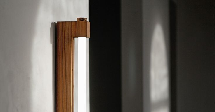 Ninebyfour Minimalist Wooden LED Tube Lights by Waarmakers