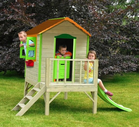 Bright children house kids pinterest play houses for Big kids play house