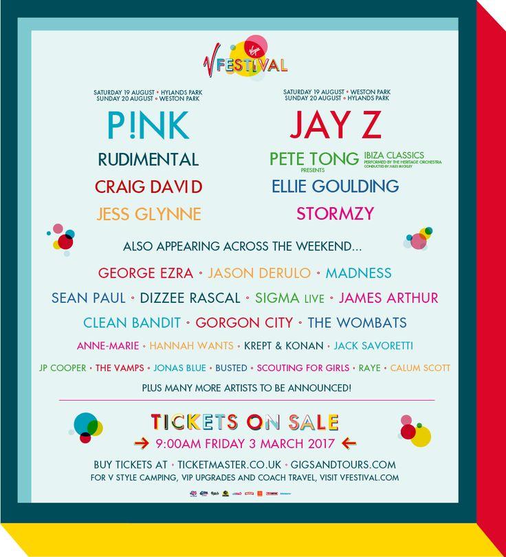 GoRockfest.Com: V Festival 2017 Lineup & Tickets Info