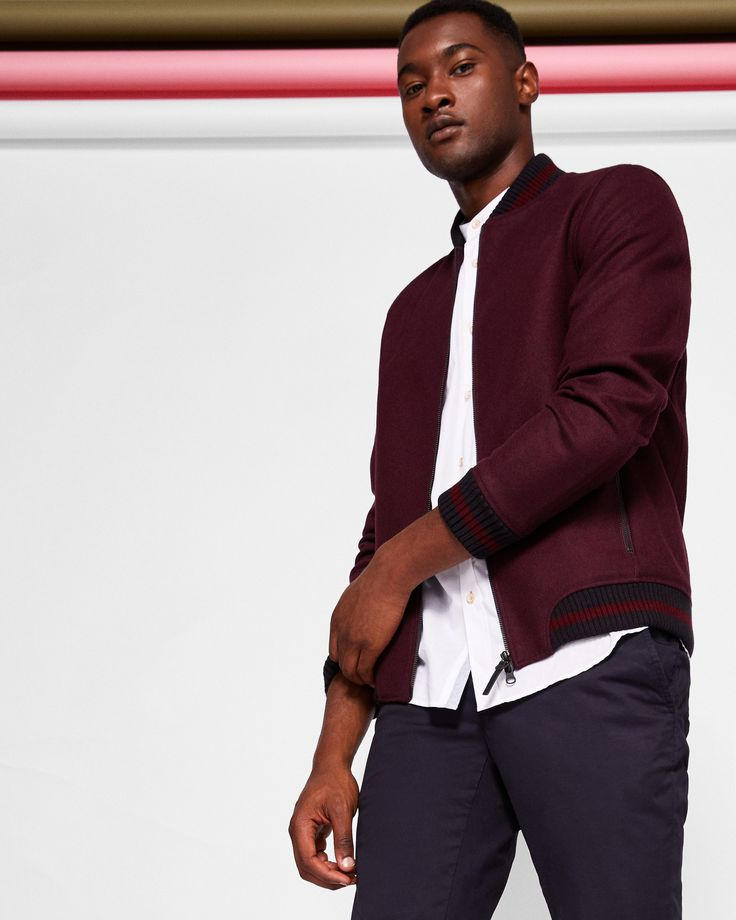 Ted Baker Wool bomber jacket Red