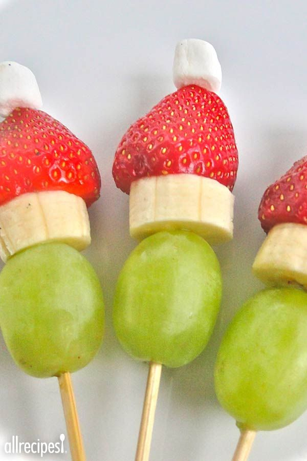 """Grinch Kabobs   """"I'm sooo thrilled to have found this!! I'm throwing a holiday party for my 11 year old daughter and her friends and this PERFECT!! Thank you, thank you!!"""" -rcanger"""