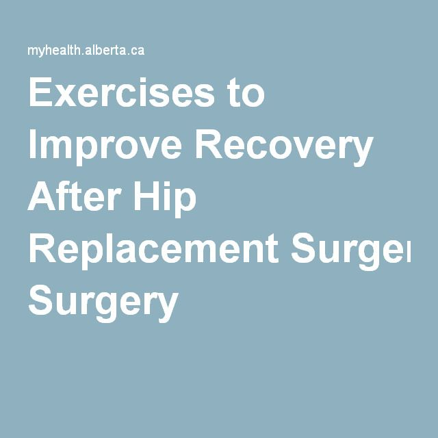 Water Exercises For Hip Replacement Rehabilitation