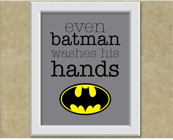 Hey, I found this really awesome Etsy listing at http://www.etsy.com/listing/157456309/batman-theme-wall-art-print