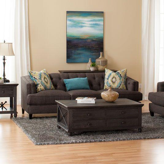 Sectional Couch Jeromes: Nixon Sofa & Loveseat By Jerome's Furniture, SKU EFU06SASB