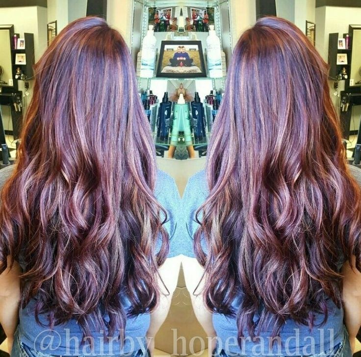 Red hair with carmel highlights