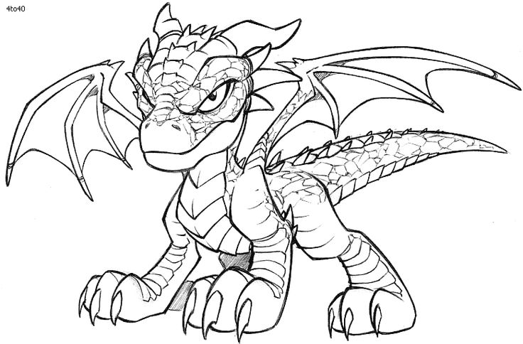 Coloring Book: Baby Dragon Coloring Page | I love to color ...
