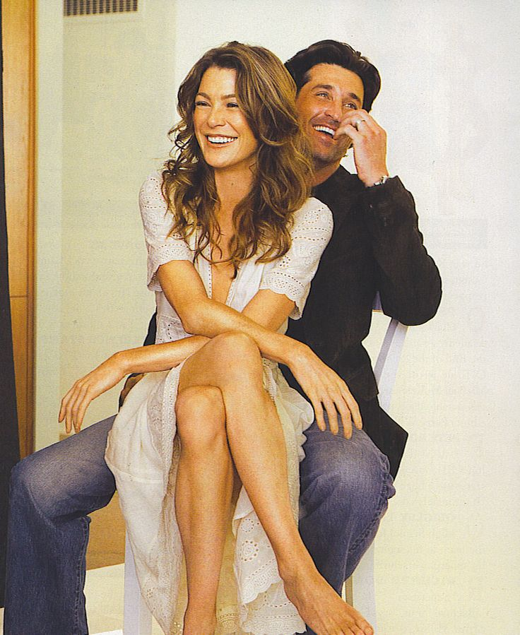 Patrick Dempsey & Ellen Pompeo. I am in LOVE with greys anatomy now that its on netflix.