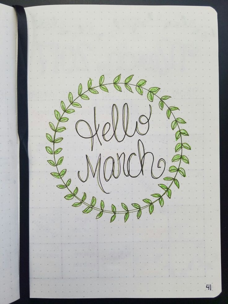 Hello March #bujo #bulletjournal #march #monthly #hellomarch