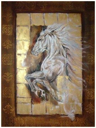 Liana Gor - Windy Horse 40x30 - Oil on Canvas