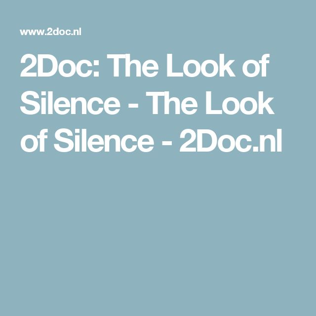 2Doc: The Look of Silence - The Look of Silence - 2Doc.nl