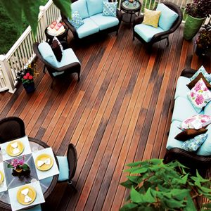 Divine Deck Design - When it comes to improving outdoor living spaces, decks are a popular choice. If you're thinking about adding a new deck, or even replacing or resurfacing an old deck, there are a lot of things to consider before you get started. These tips from the experts at Fiberon will help you design the right deck for your needs.