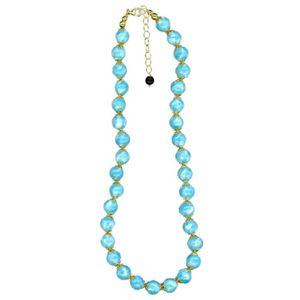 Silver - Blue Murano Glass Necklace