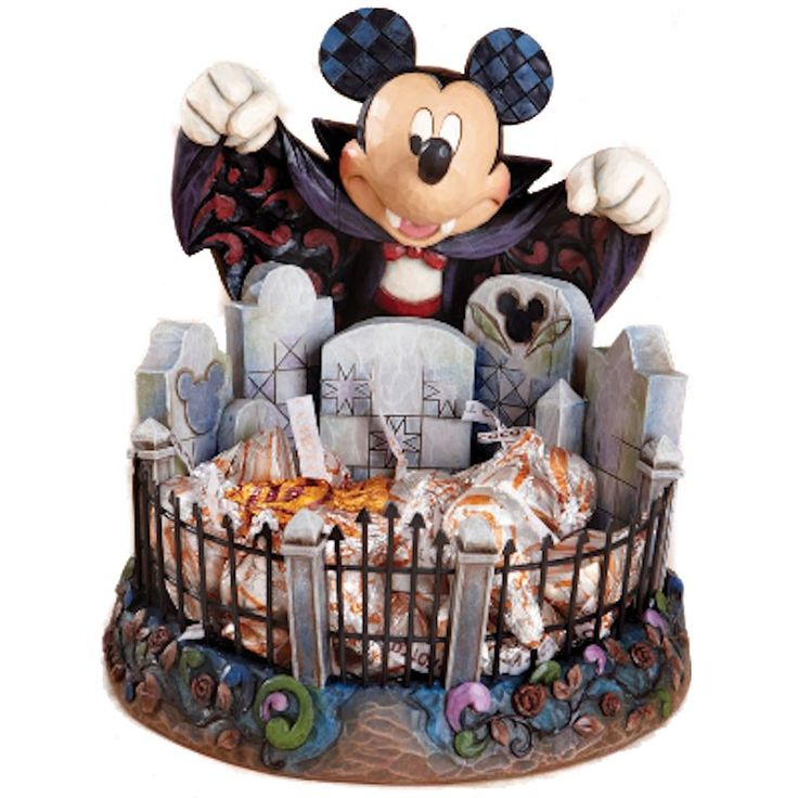 disney traditions mickey mouse halloween candy dish - Disney Halloween Decorations