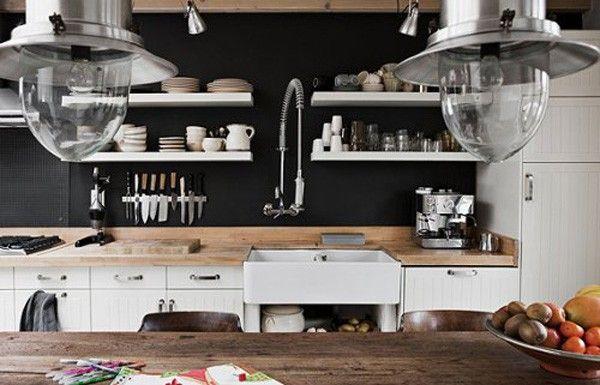 dapur bernuansa hitam