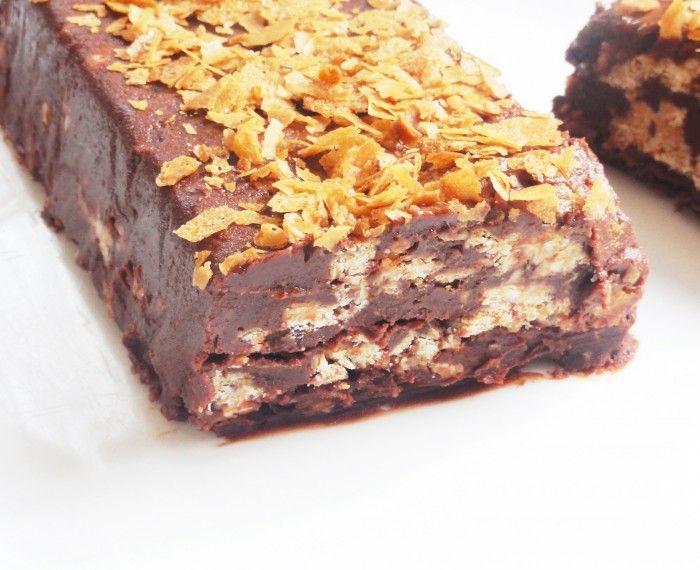 terrine au chocolat croustillant chocolat blanc du choco. Black Bedroom Furniture Sets. Home Design Ideas