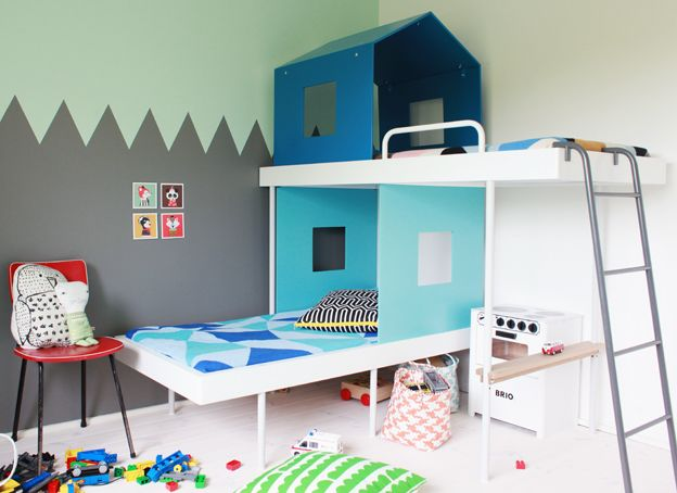 Perfect.: Cool Bunk Beds, Rooms Idea, Kids Bedrooms, Modern Bunk Beds, Child Rooms, Big Boys, Boys Rooms, Kids Bunk Beds, Kids Rooms