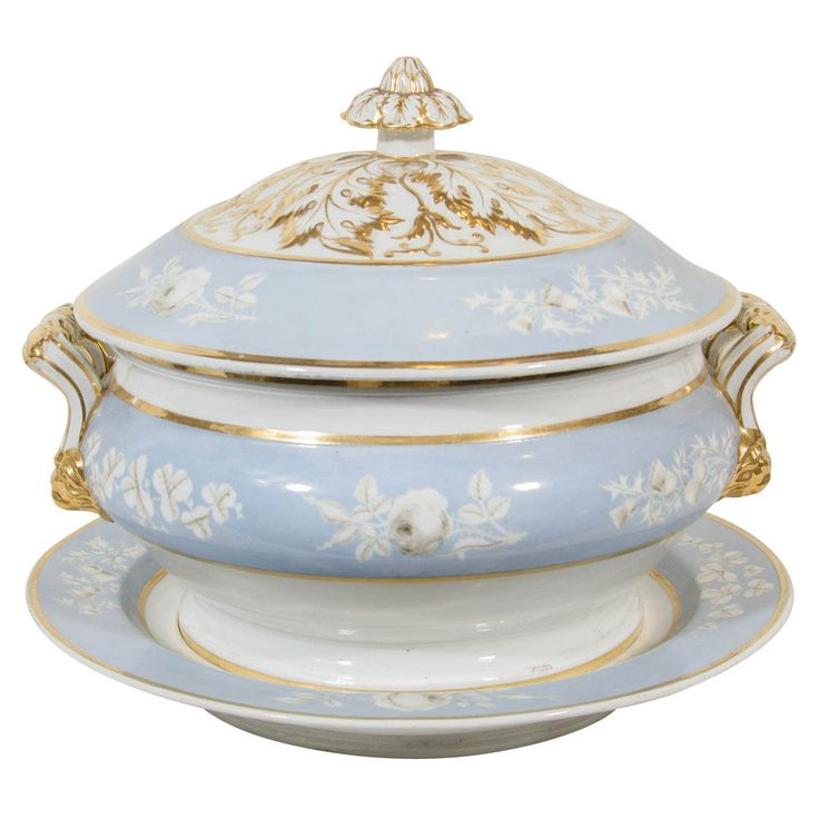 A Pale Blue Chamberlain's Worcester Soup Tureen   From a unique collection of antique and modern tureens at http://www.1stdibs.com/furniture/dining-entertaining/tureens/