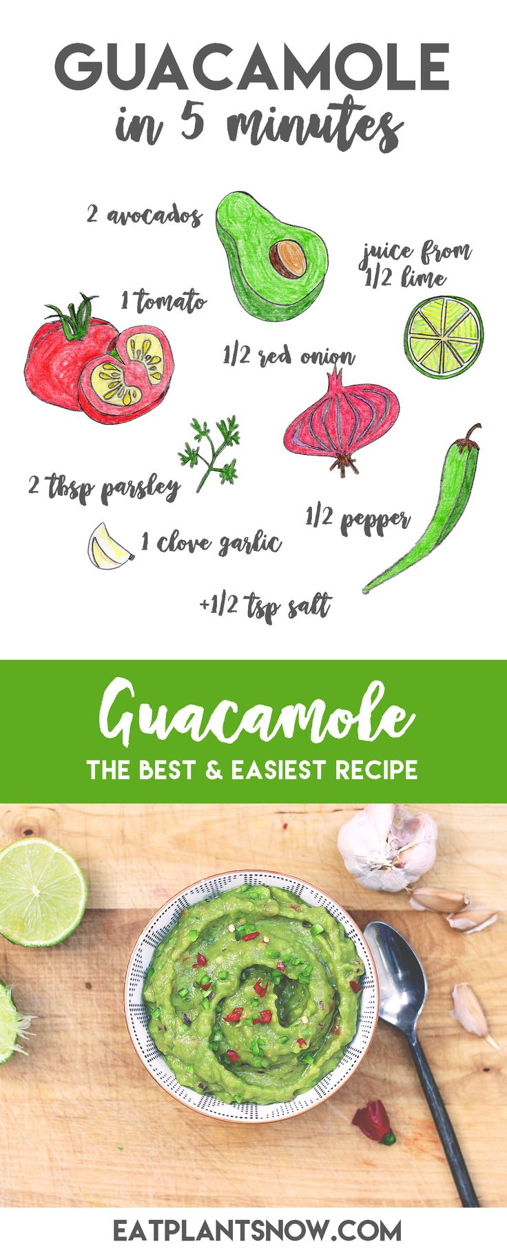 Guacamole Recipe - the Ultimate Plantbased Dip - Eat Plants Now