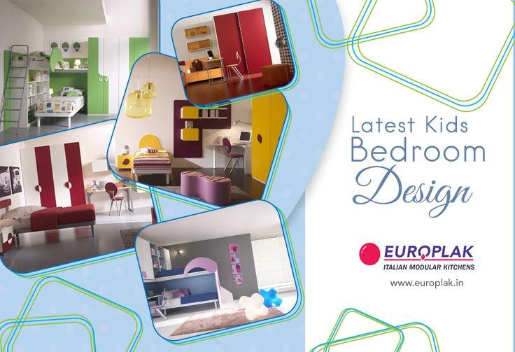 #Kids #Bedroom #Designs only @ Europlak India. For more details Visit : http://www.europlak.in/