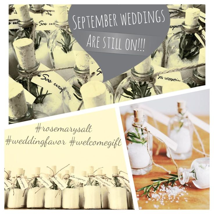 Wedding giveaway / Fleur de sel with rosemary