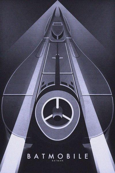 Batmobile series by Ron Guyatt