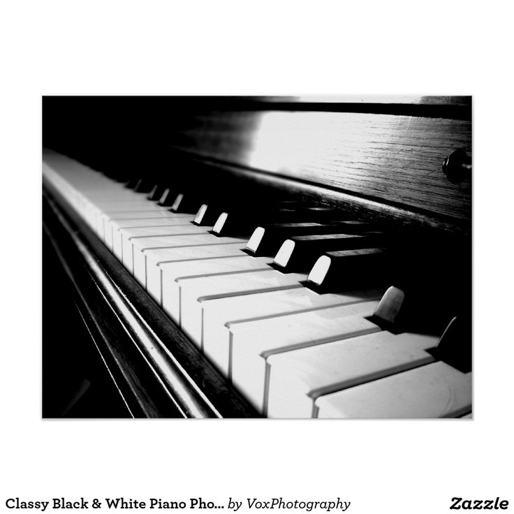 Classy Black & White Piano Photography Poster - piano, music, musicians, pianists, piano photos, piano prints, piano teachers, piano tutors, piano lessons, for musicians, for piano players, black and white, black and white photography, black and white art, art, cool, teens, performing arts