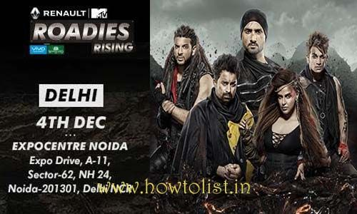 MTV Roadies Delhi audition details