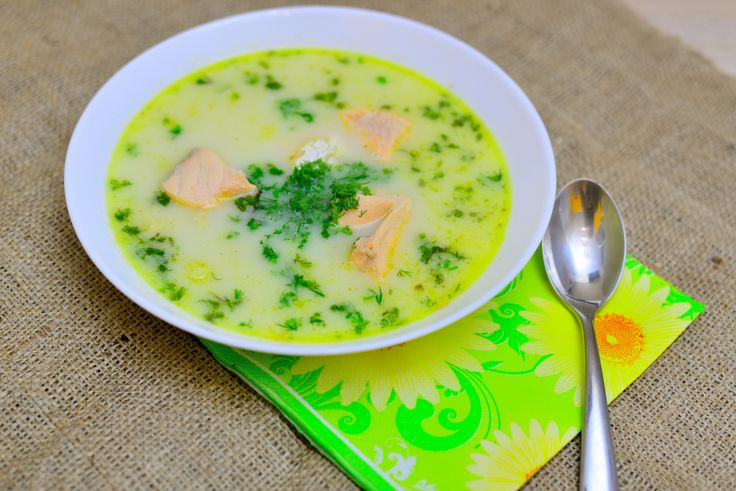 Lohikeitto is a traditional salmon, potato and leek soup served in Finland and other Scandinavian countries. The soup is traditionally garnished with dill. Heat 1 tablespoon of butter in a stockpot or Dutch oven over medium heat.