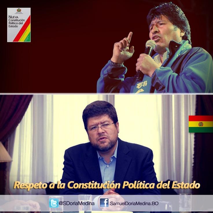 La política se definirá por respeto o no a la Constitución Política del Estado.  El presidente Morales debe aceptar que no hay opción a tercer mandato sin reformar la CPE, es la cuestión.