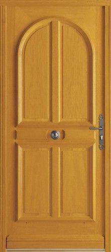 Porte bois, Porte entree, Bel'm, Classique, Poignee plaque rustique, Bouton fleuri+cache fiches rustique, Sans vitrage, Ceylan