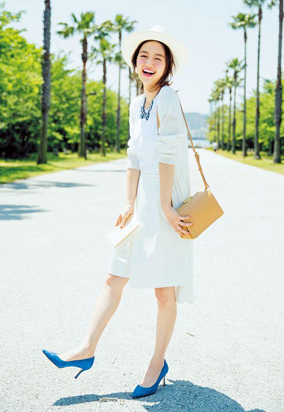 清涼感いっぱいの白コーデ♡かわいい夏服コーデのアイデア♡