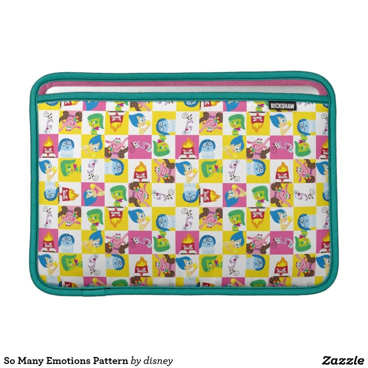 Inside Out - So Many Emotions Pattern Sleeve For MacBook Air. Regalos, Gifts. #fundas #sleeves