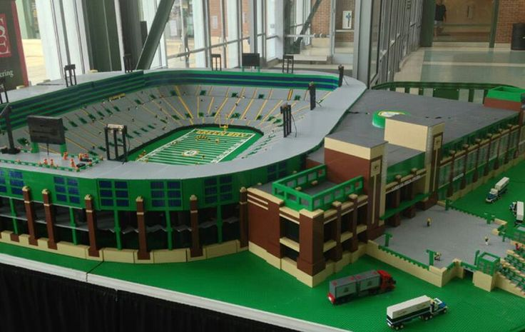 Lambeau field built with legos