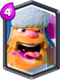 Carta do Lenhador de Clash Royale